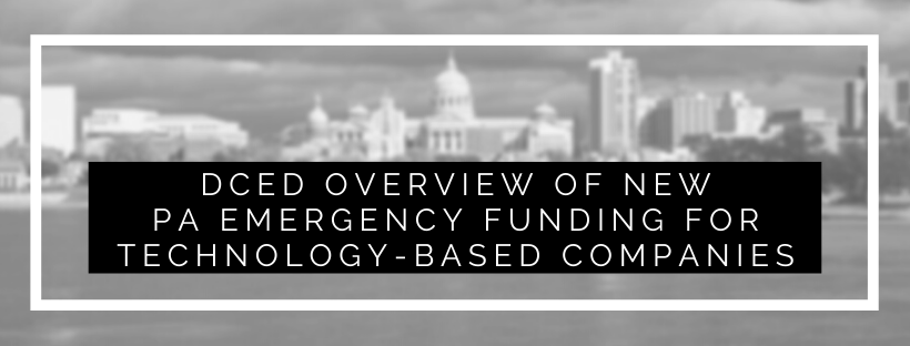 DCED Overview of New PA Emergency Funding (Webinar 5.5)