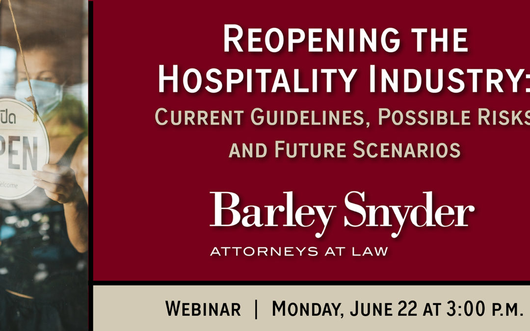Reopening the Hospitality Industry (Webinar 6.22)